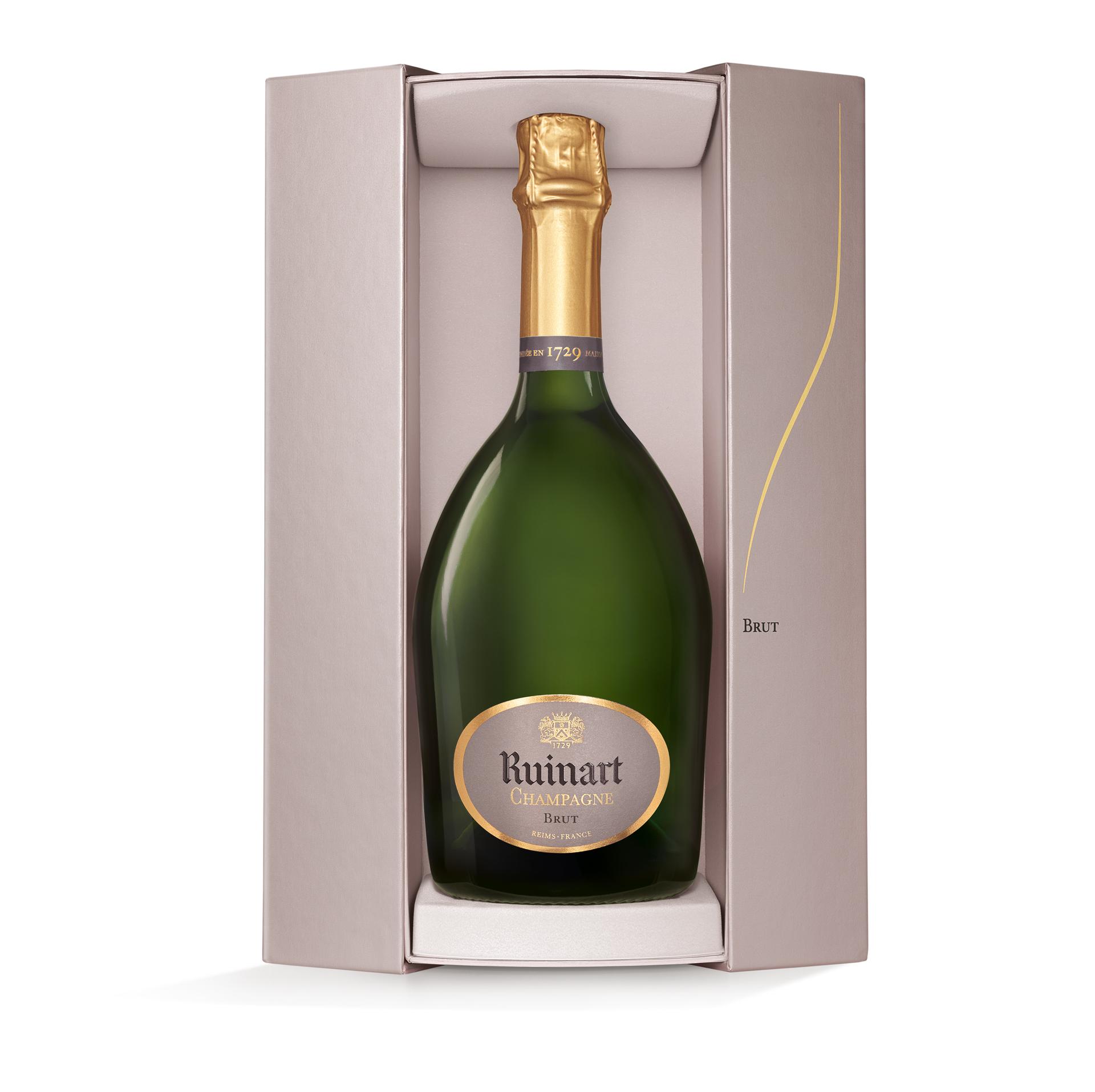 Champagne R. de Ruinart in luxe Coffret 75CL