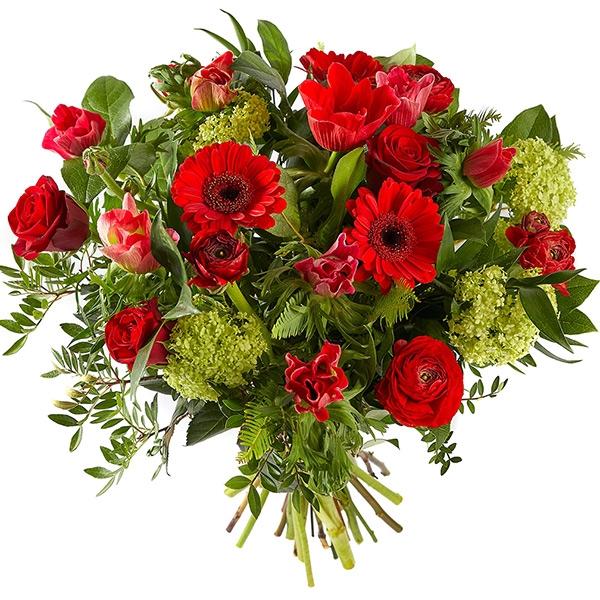 Boeket romantisch rood