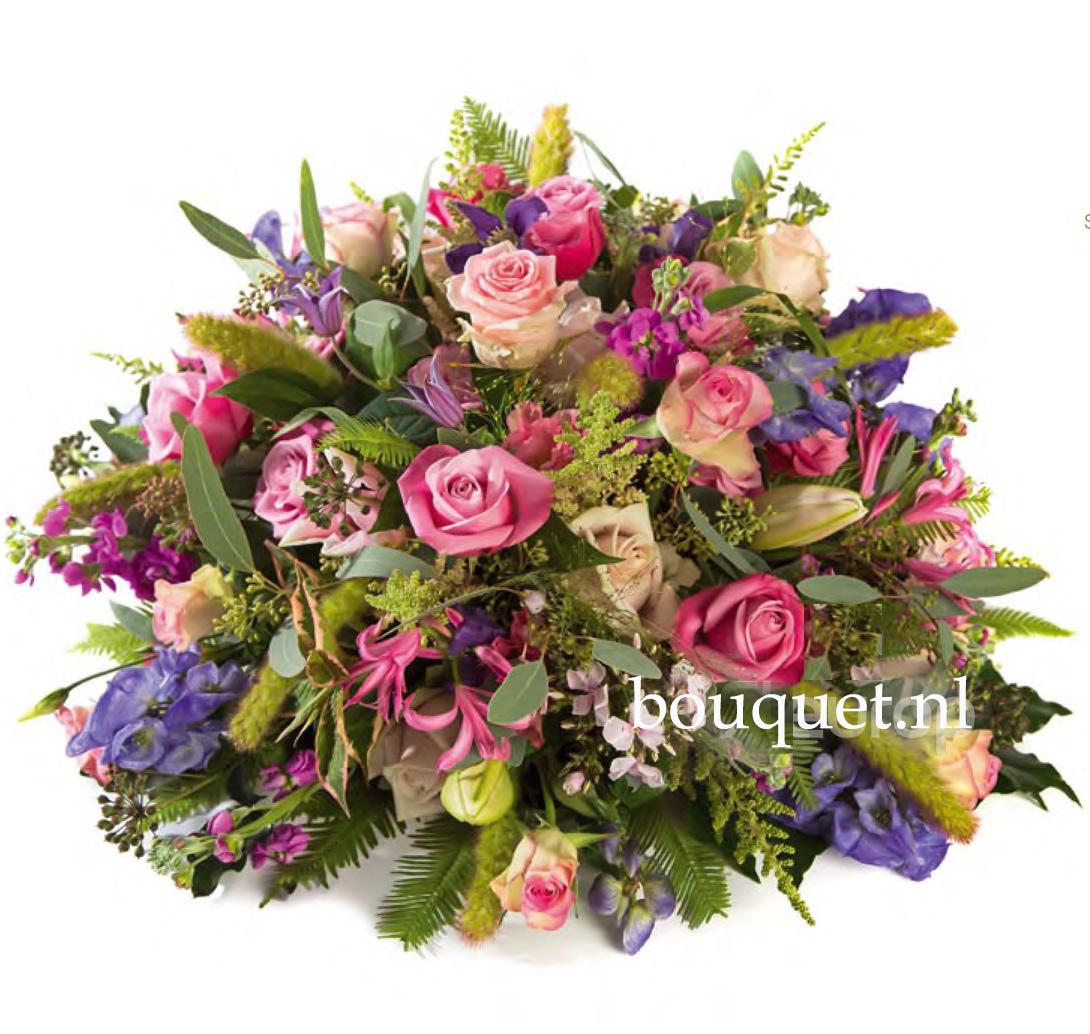 Rouwbiedermeier gemengd roze - blauw