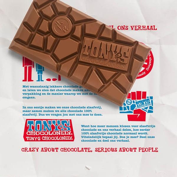 Tony's Chocolonely melk chocoladereep