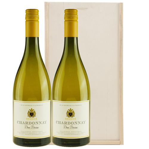 Chardonnay Réserve Dom Doriac 2 flessen in wijnkist