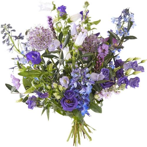 Veldboeket blauw paars