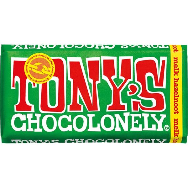Tony's chocolonely hazelnoot chocoladereep