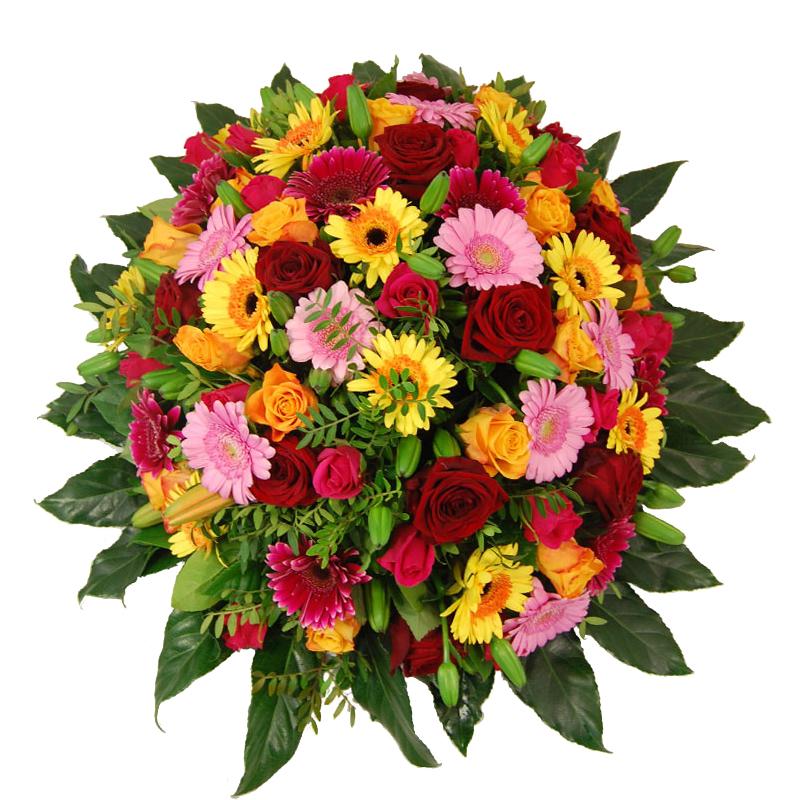 Rouwbiedermeier gemengde bloemen