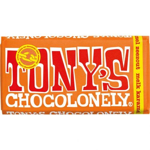 Tony's Chocolonely karamel zeezout chocoladereep