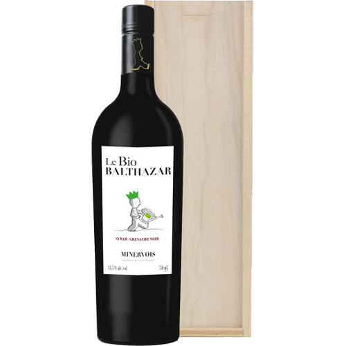 Le Bio Balthazar Minervois Biologische rode wijn in wijnkist