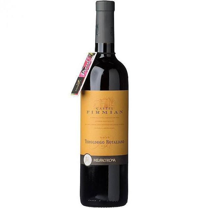 Rode wijn Teroldego Rotaliano van Castel Firmian