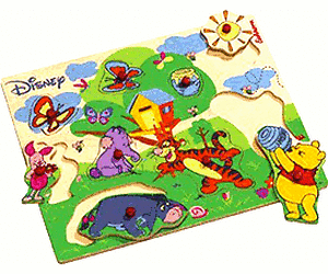 Houten contouren puzzel Disney