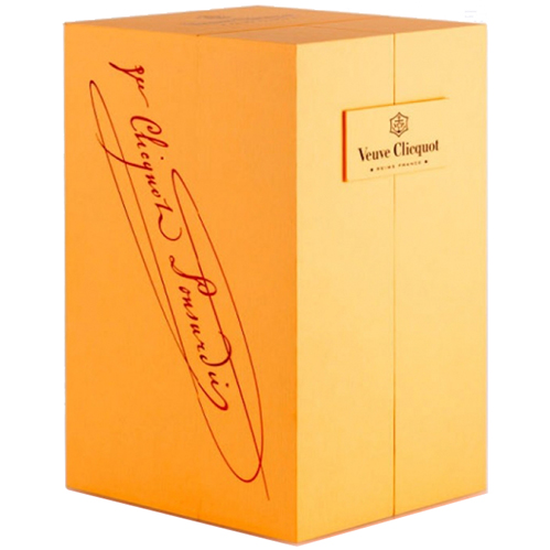 Champagne Veuve Clicquot Rosé 75CL in Luxe Geschenkbox met glazen