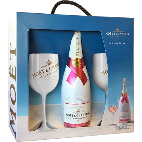 Moët & Chandon Ice Impérial Rosé Geschenkset met twee glazen