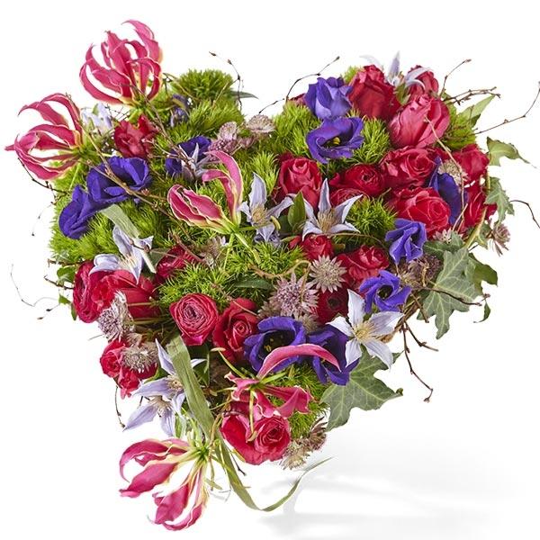 Rouwstuk hart kleurrijk