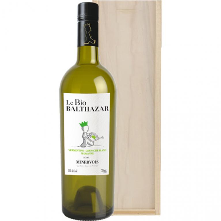 Le Bio Balthazar Minervois Biologische witte wijn in wijnkist