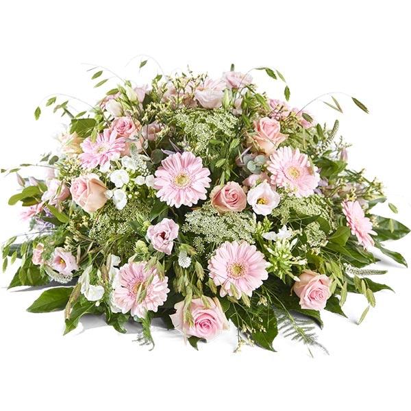 Rouwbiedermeier gemengd roze
