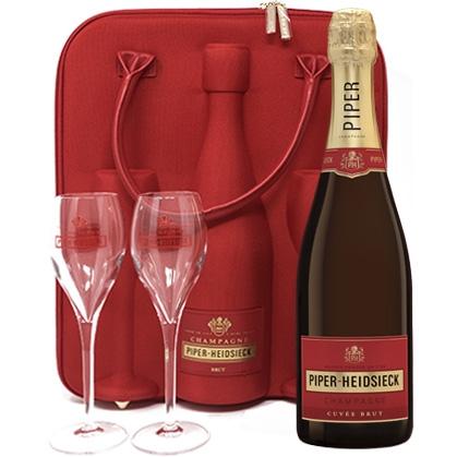 Piper-Heidsieck Cuvée Brut in Travelbag met 2 glazen 750ML