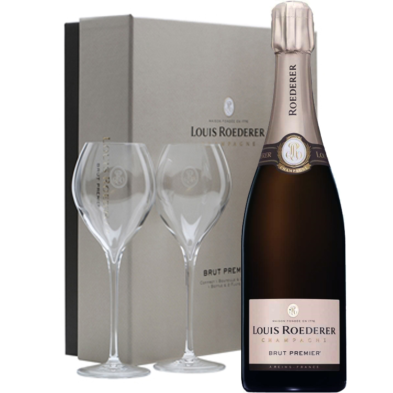 Louis Roederer Brut Premier champagne in geschenkverpakking