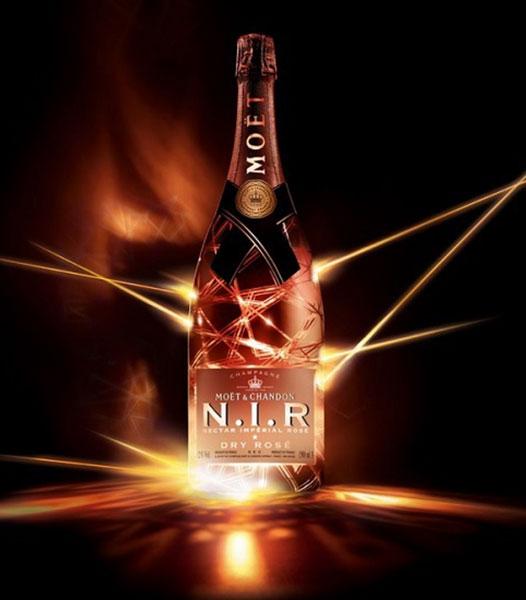 Moët & Chandon N.I.R. Dry Rosé Magnum fles met led-lampje