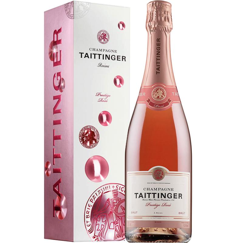 Taittinger Prestige Rosé in giftpack Bubbly