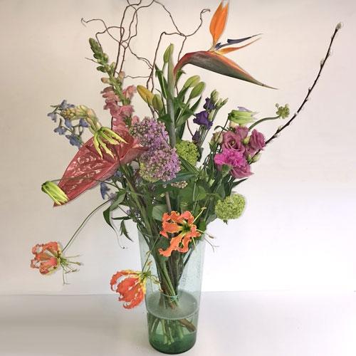 Plukboeket met luxe bloemen